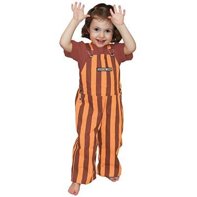 Virginia Tech Toddler Game Bibs Striped Overalls