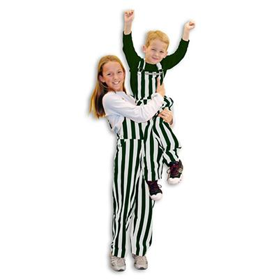 Michigan State Kids Game Bibs Striped Overalls
