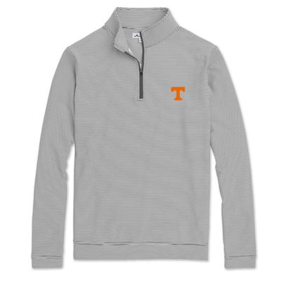 Tennessee Peter Millar Perth Mini-Stripe Quarter-Zip Pullover