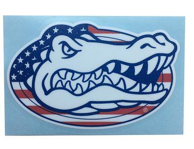 Florida American Flag + Gator Head Decal