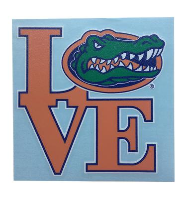 Florida Love Gator Head Decal