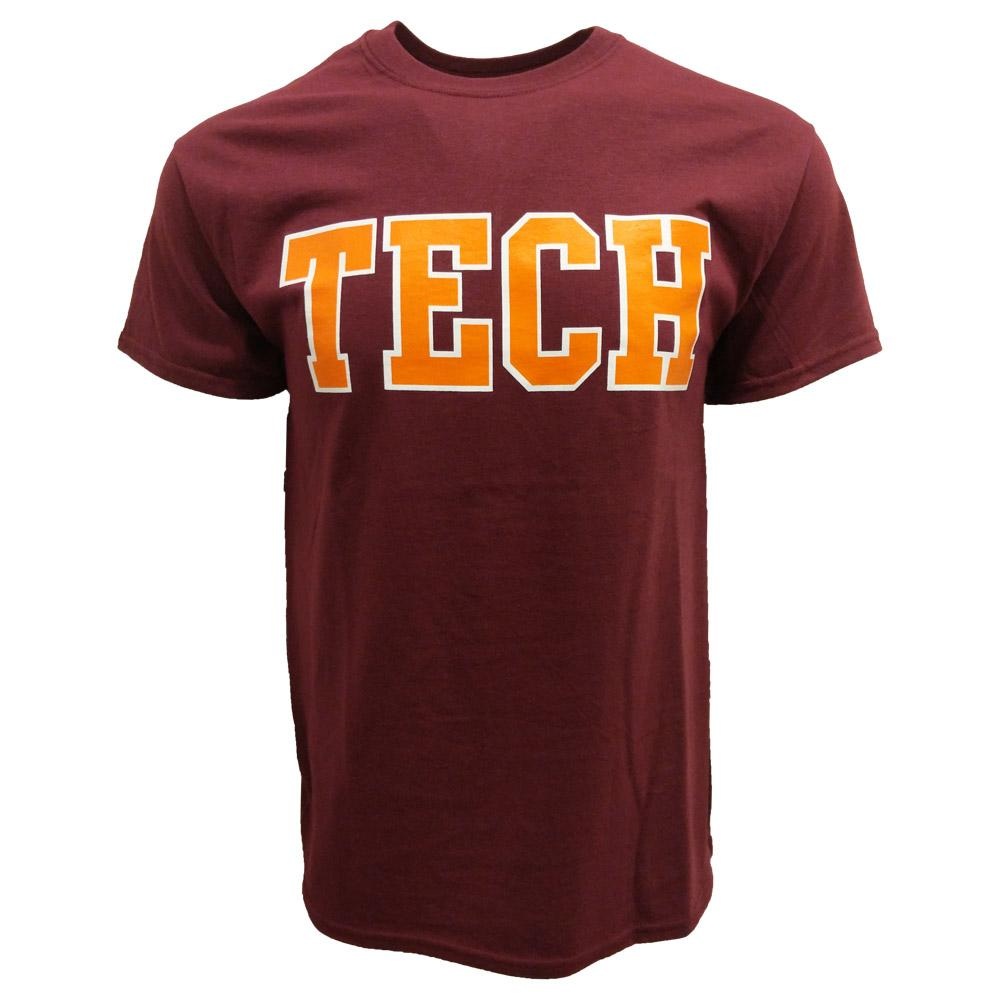Maroon & Orange Tech T- Shirt