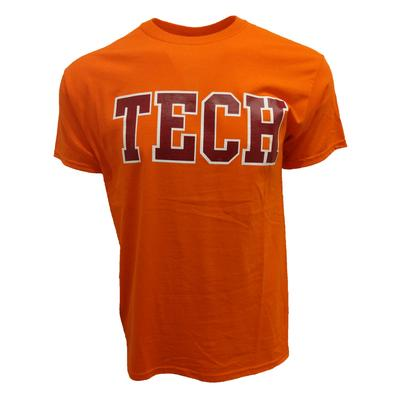 Maroon & Orange Tech T-Shirt ORANGE