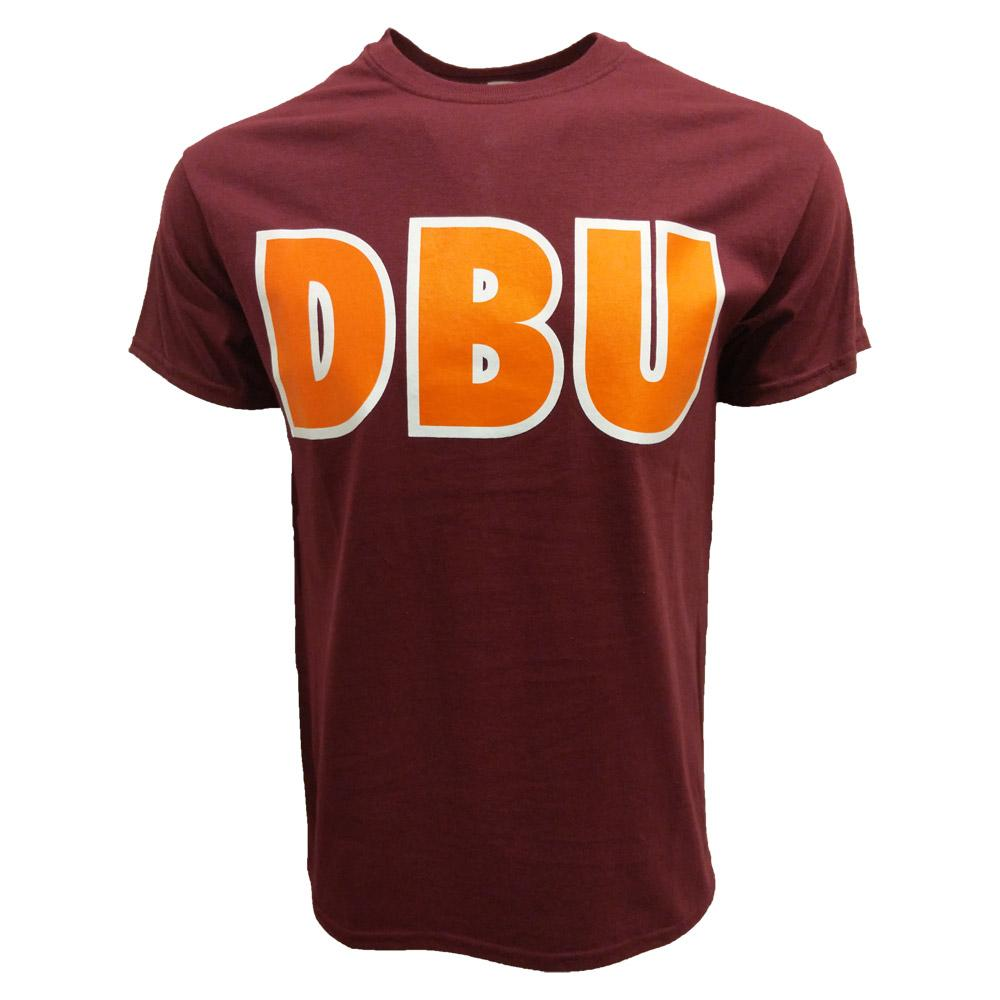 Maroon & Orange Dbu T- Shirt