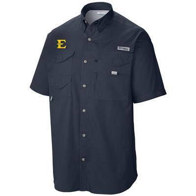 ETSU Columbia Tamiami Short Sleeve Shirt NAVY
