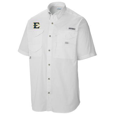 ETSU Columbia Tamiami Short Sleeve Shirt WHITE
