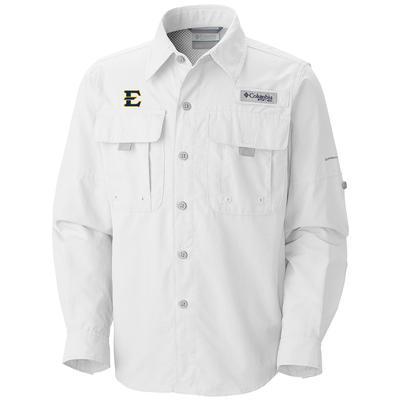 ETSU Columbia Bahama Long Sleeve Shirt WHITE