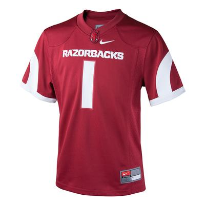 Arkansas Nike Youth Replica Jersey #1