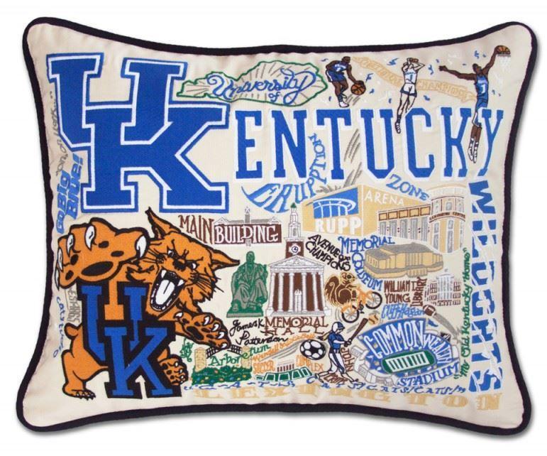 Kentucky Hand Embroidered Pillow