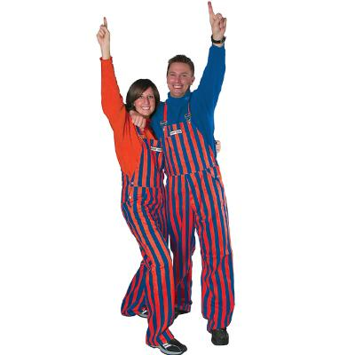 Florida Adult Game Bibs Striped Overalls