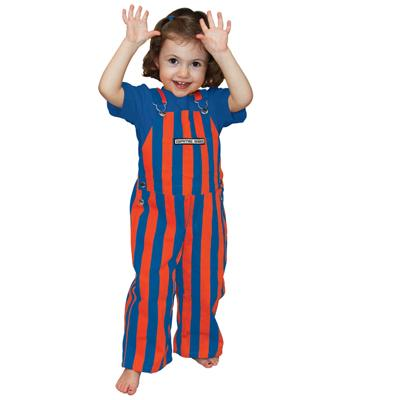 Florida Toddler Game Bibs Striped Overalls