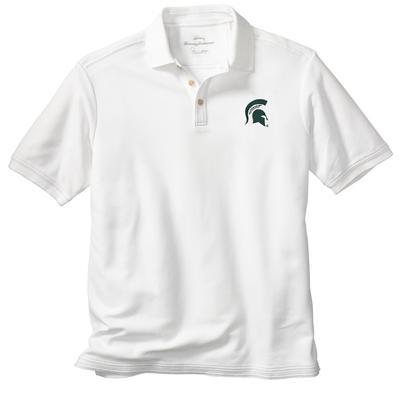 Michigan State Tommy Bahama Emfielder Core Polo WHITE