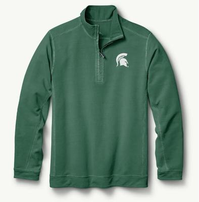 Michigan State Tommy Bahama Ben & Terry Coast Core Half Zip Pullover