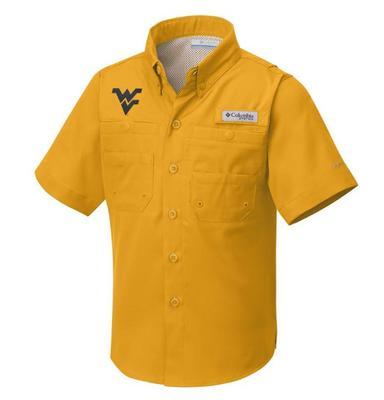 West Virginia Columbia Youth Tamiami Shirt