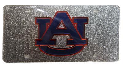 Auburn Glitter License Plate