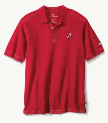Alabama Tommy Bahama Emfielder Core Polo CHILI_PEPPER
