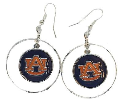 Auburn Iridescent Disk Earrings