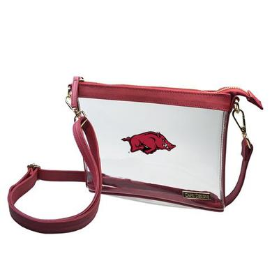 Arkansas Game Day Clear Crossbody Bag