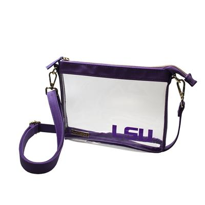 LSU Game Day Clear Crossbody Bag