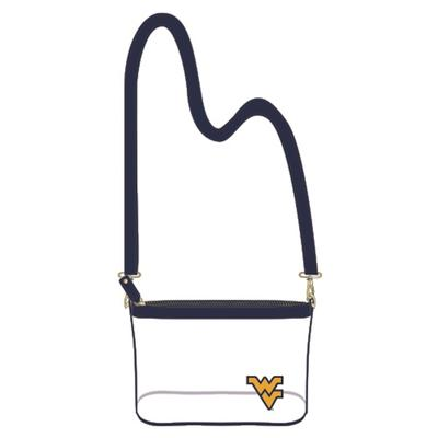 West Virginia Game Day Clear Crossbody Bag