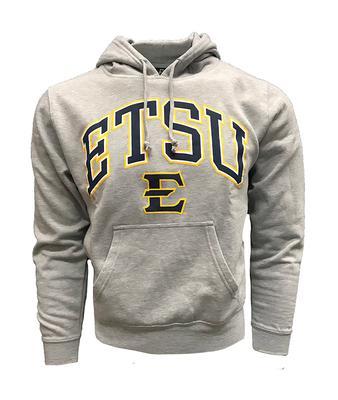 ETSU Arch Logo Hooded Sweatshirt GREY