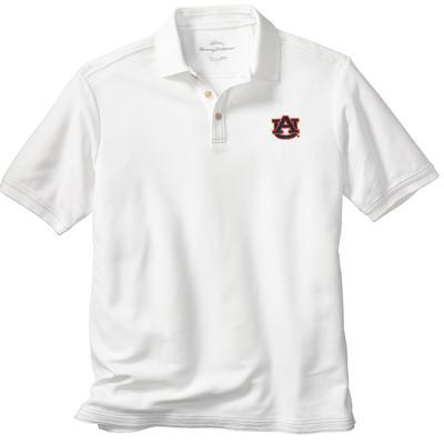 Auburn Tommy Bahama Emfielder Core Polo WHITE