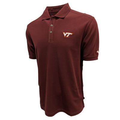Virginia Tech Tommy Bahama Emfielder Core Polo MAROON_BERRY