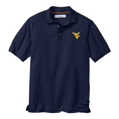 West Virginia Tommy Bahama All Square Core Polo