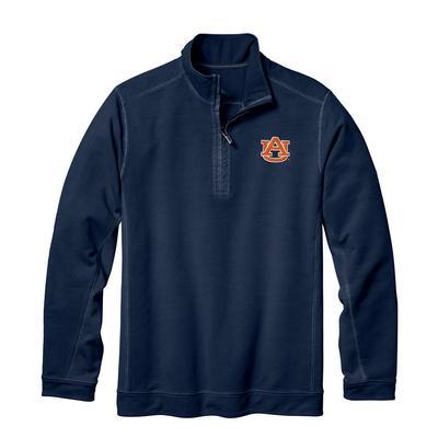 Auburn Tommy Bahama Ben & Terry Coast Core Half Zip Pullover