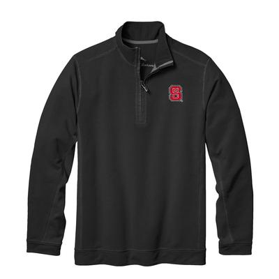 NC State Tommy Bahama Ben & Terry Coast Core Half Zip Pullover