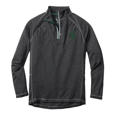 Michigan State Tommy Bahama Firewall Core Half Zip Pullover