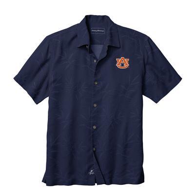 Auburn Tommy Bahama Luau Floral Core Camp Shirt
