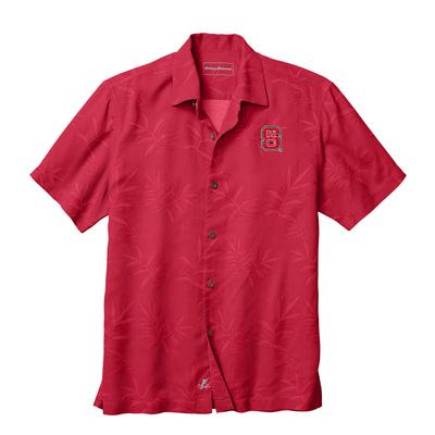 NC State Tommy Bahama Luau Floral Core Camp Shirt