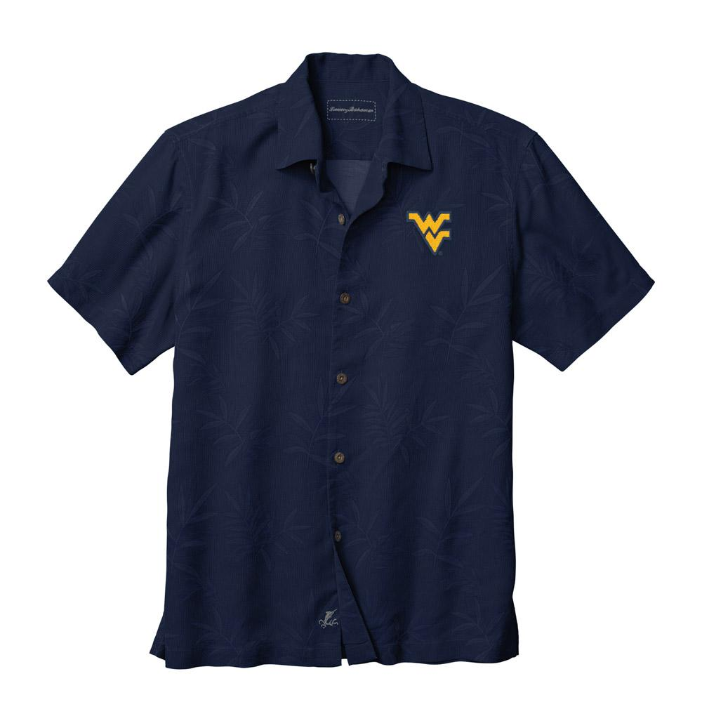 West Virginia Tommy Bahama Luau Floral Core Camp Shirt