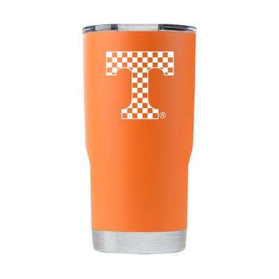 Tennessee Gametime Sidekick 20oz Checkerboard T Tumbler With Lid