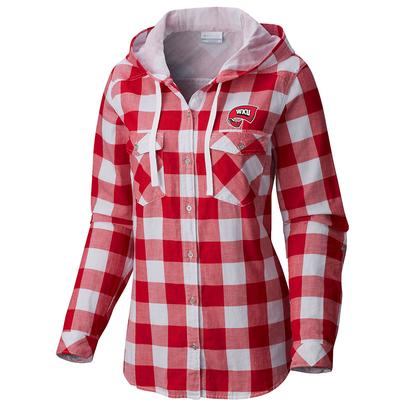 Western Kentucky Columbia Women's Times Two Hooded Long Sleeve Flannel Shirt