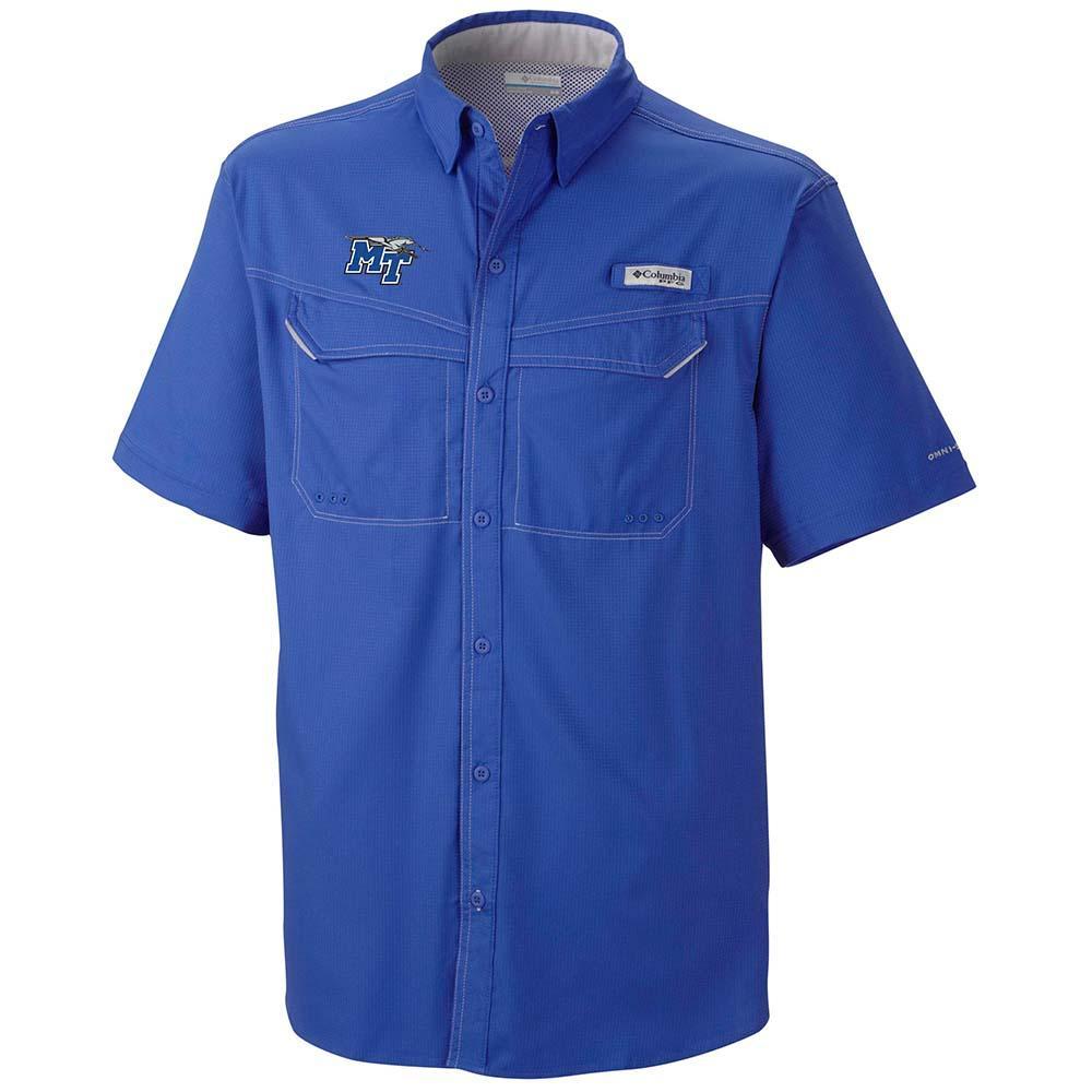 Mtsu Columbia Low Drag Off Shore Short Sleeve Woven Shirt