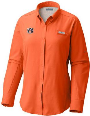 Auburn Columbia Women's Tamiami Long Sleeve Shirt