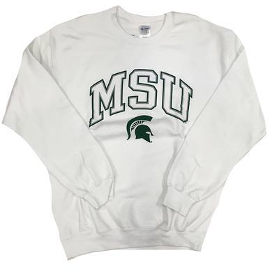 Michigan State Arch With Logo Crew Sweatshirt