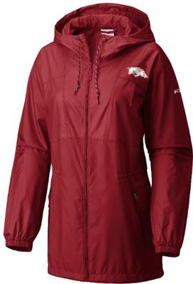 Arkansas Columbia Women's Flashback Long Windbreaker