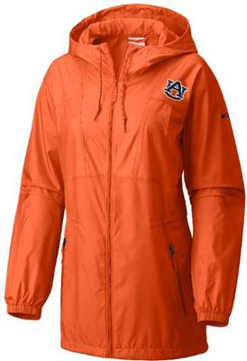 Auburn Columbia Women's Flashback Long Windbreaker