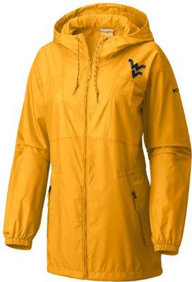 West Virginia Columbia Women's Flashback Long Windbreaker