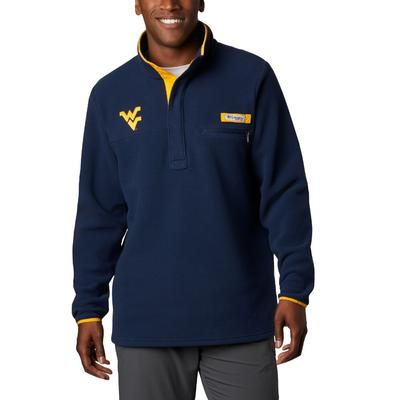 West Virginia Columbia Harborside Fleece Pullover