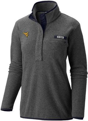 West Virginia Columbia Women's Harborside Fleece Pullover