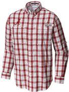 Alabama Columbia Long Sleeve Super Tamiami Woven Shirt