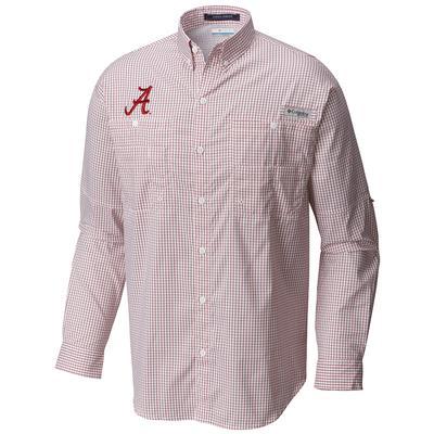 Alabama Columbia Long Sleeve Super Tamiami Woven Shirt RED_VELVET_GINGHAM