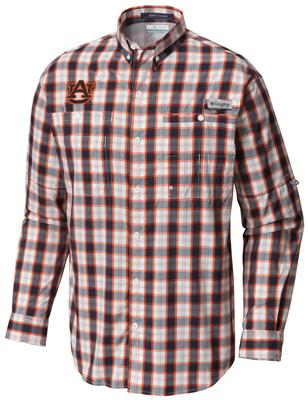 Auburn Columbia Long Sleeve Super Tamiami Woven Shirt