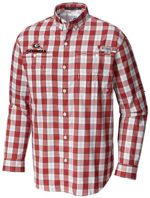 Georgia Columbia Long Sleeve Super Tamiami Woven Shirt