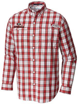 Georgia Columbia Long Sleeve Super Tamiami Woven Shirt