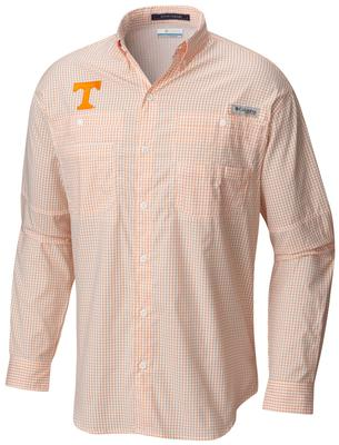 Tennessee Columbia Long Sleeve Super Tamiami Woven Shirt SOLARIZE_GINGHAM